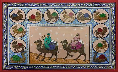 Painting - Arab Men In Desert by Art Tantra