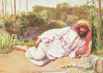 Arab Resting By A Stream, 1854 Art Print by William Holman Hunt