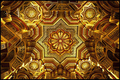 Arab Room Ceiling At Cardiff Castle Art Print by Adele Buttolph
