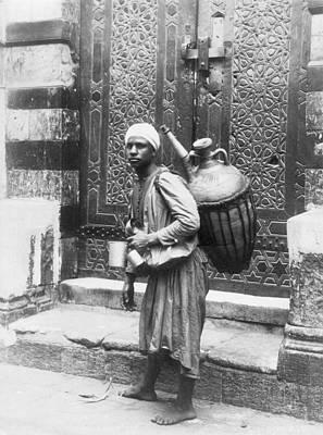Water Jug Photograph - Arab Waterboy, C1900 by Granger