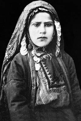 Arab Woman From Jerusalem Print by Munir Alawi