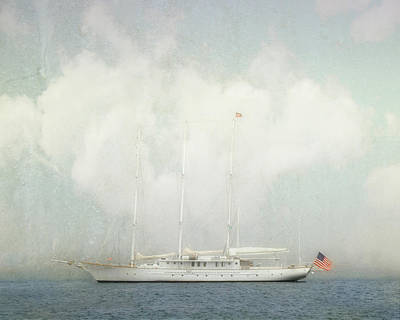 Photograph - Arabella On Newport Harbor by Karen Lynch