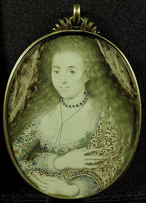 Lennox Drawing - Arabella Stuart, Died 1615, Daughter Of Charles Lennox by Litz Collection