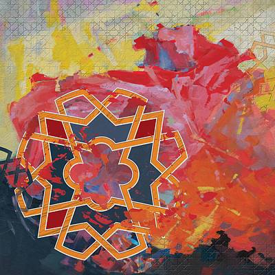 Painting - Arabesque 8 by Shah Nawaz