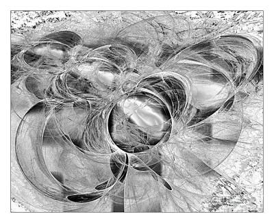 Digital Art - Arabesque Design In Black And White by Leona Arsenault