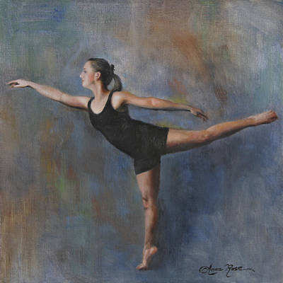Dance Painting - Arabesque In Blue by Anna Rose Bain