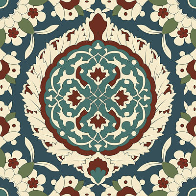 Arabesque Seamless Pattern 01 Print by Pablo Romero