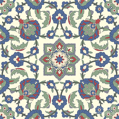 Arabesque Seamless Pattern 02 Print by Pablo Romero