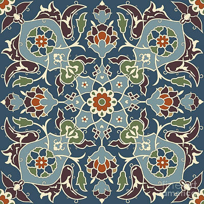 Arabesque Seamless Pattern 03 Print by Pablo Romero