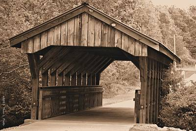 Arabia Mountain Covered Bridge Art Print