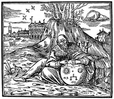 Astronomers Painting - Arabian Astronomer, 1519 by Granger