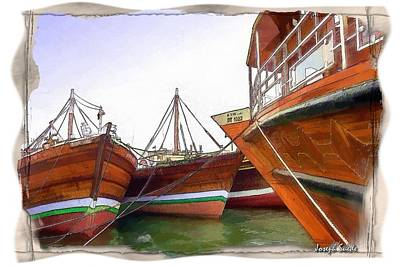 Digital Art - Arabian Boats by Digital Oil