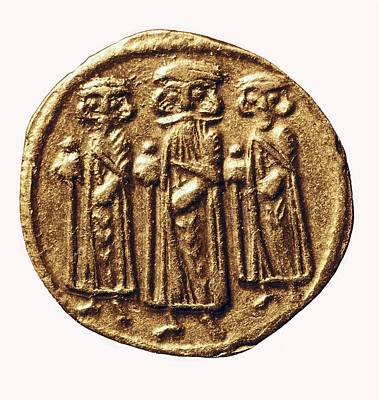 Arabian-byzantine Coin. Coin. France Art Print by Everett
