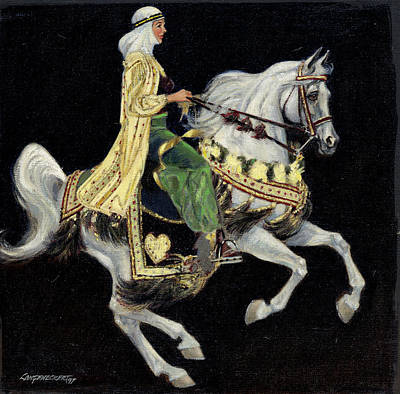 Arabian Horses Painting - Arabian Costume Horse by Don  Langeneckert