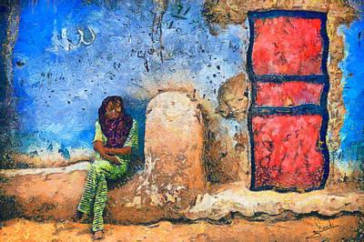 Pyramids Painting - Arabian Girl by George Rossidis