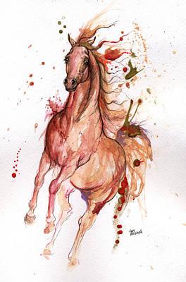 Arabian Horses Mixed Media - Arabian Horse 2014 10 21 by Angel  Tarantella
