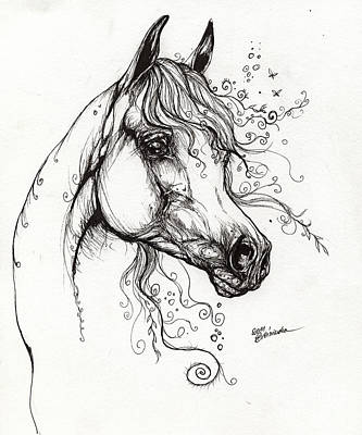 Arabian Horse Drawing 9 Original by Angel  Tarantella