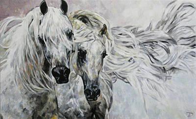 Painting - Arabian Horses by Jana Fox