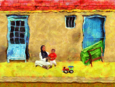 Traditional Painting - Arabian House 2 by George Rossidis