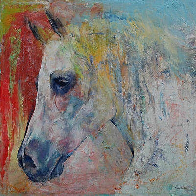 Horse Racing Painting - Arabian by Michael Creese