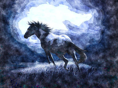 Mustang Painting - Arabian Mustang by MotionAge Designs