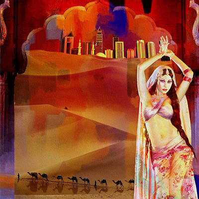 Painting - Arabian Nights by Corporate Art Task Force