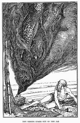 Mystic Drawing - Arabian Nights Fisherman by Granger