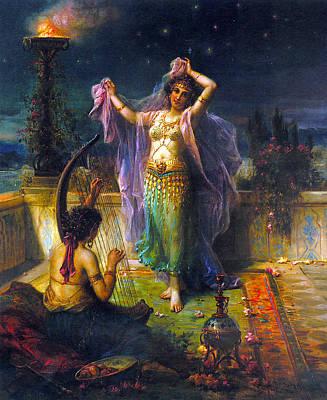 Arabian Digital Art - Arabian Nights by Hans Zatzka