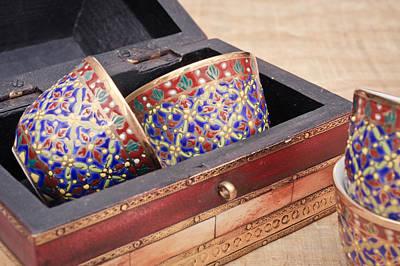 Arabian Photograph - Arabian Teacups by Tom Gowanlock