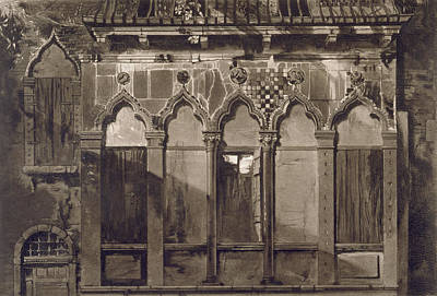 Arabian Windows, In Campo Santa Maria Art Print by John Ruskin