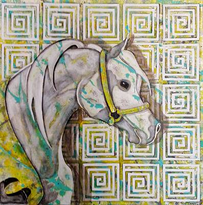Arabian With Shadow Original by Pat Devereaux