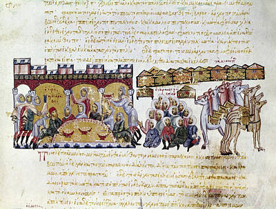 Byzantine Painting - Arabs In Sicily, 1039 by Granger