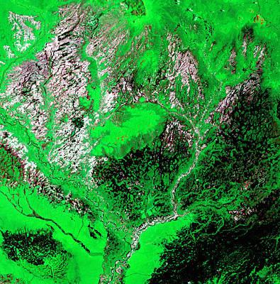 Photograph - Araca River by USGS Landsat