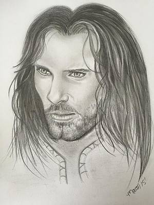 Aragorn/strider Lord Of The Rings Art Print