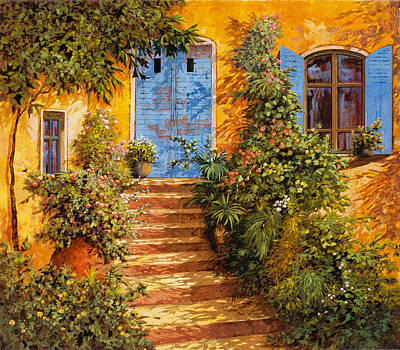 Arancio Caldo Art Print by Guido Borelli