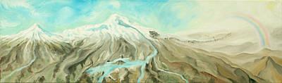 Painting - Ararat by Sandra Yegiazaryan
