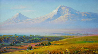 Painting - Araratian Field And Ararat by Meruzhan Khachatryan