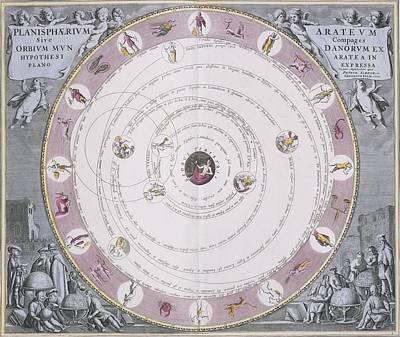Aratus Planisphere, 1708 Art Print by Science Photo Library