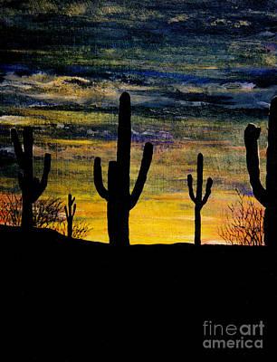 Arazona Sunset Art Print