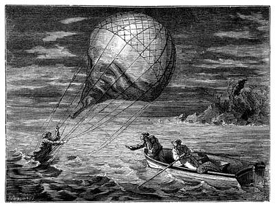 1846 Photograph - Arban Balloon Crash In Adriatic by Science Photo Library