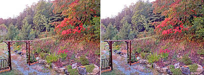 Photograph - Arbor And Fall Garden by Duane McCullough