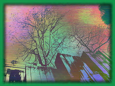 Digital Art - Arbor In The City 6 by Tim Allen