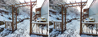 Photograph - Arbor In The Snow In Stereo by Duane McCullough