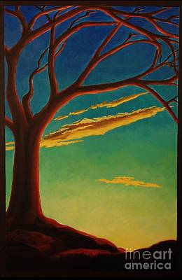 Art Print featuring the painting Arbutus Bliss by Janet McDonald