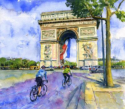 Painting - Arc De Triomphe 2 by John D Benson