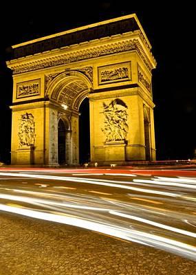 Photograph - Arc De Triomphe At Night by Matt MacMillan