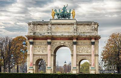 Arc De Triomphe Du Carrousel Wall Art - Photograph - Arc De Triomphe Du Carrousel by Rostislav Bychkov