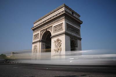 Art Print featuring the photograph Arc De Triomphe by Jeremy Voisey