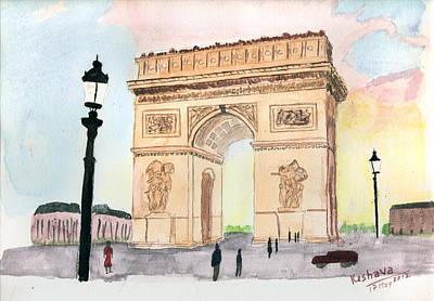 Painting - Arc De Triomphe by Keshava Shukla