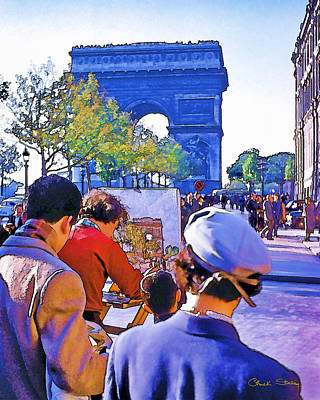 Photograph - Arc De Triomphe Painter by Chuck Staley